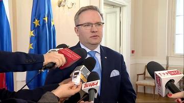 """""""Sprawa zamknięta"""". Prezydencki minister pytany o wypowiedź szefa MSZ"""