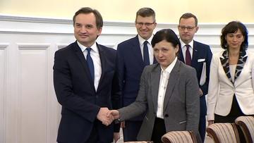 """Ziobro zaproponował Jourovej kompromis ws. sędziów. """"W geście dobrej woli"""""""