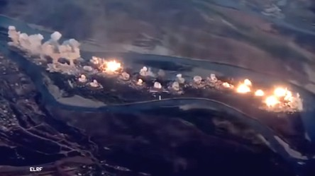 Zobacz, jak amerykańskie myśliwce F-35 i F-15 bombardują wyspę okupowaną przez ISIS