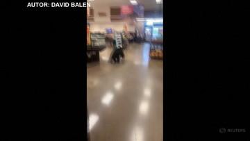 Nietypowy klient supermarketu. Niedźwiedź chodził między półkami