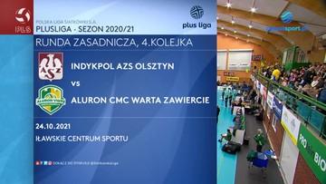 PlusLiga: Indykpol AZS Olsztyn - Aluron CMC Warta Zawiercie 3:0. Skrót meczu