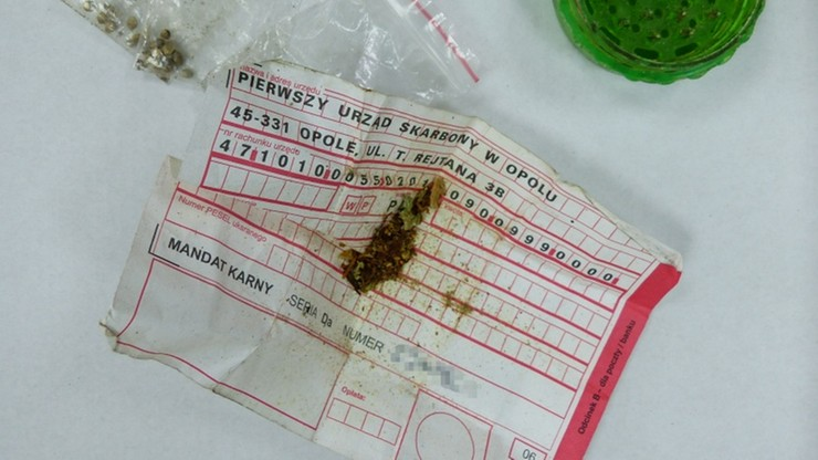 Marihuana zawinięta w… mandat karny. Wpadka 23-latka z Kalisza