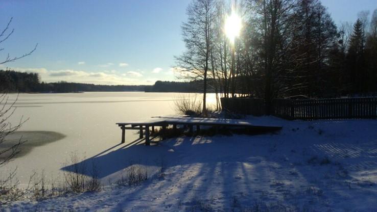 Zimowy krajobraz Borw Tucholskich.