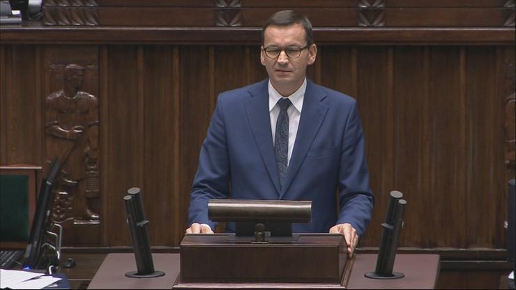 Premier w Sejmie o Białorusi: potrzebna solidarność i skuteczna pomoc