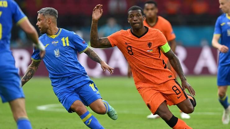 Euro 2020: Holandia - Ukraina 1:0. Gol Georginio Wijnalduma