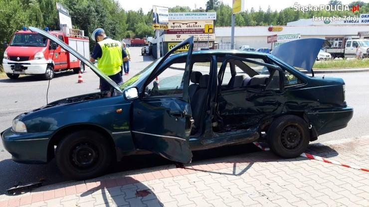 Zderzenie dwóch aut w Jastrzębiu Zdroju. Nie żyje 93-letni kierowca