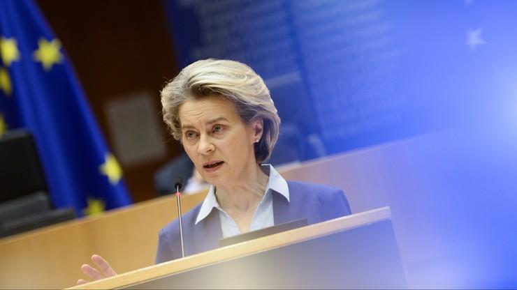 """Ursula von der Leyen o szczepieniach w Europie. """"Kampania przyspieszyła"""""""
