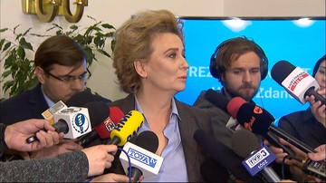 """Zarzuty dla prezydent Łodzi. Kredyty i poświadczenia nieprawdy. Zdanowska: """"Jestem niewinna"""""""