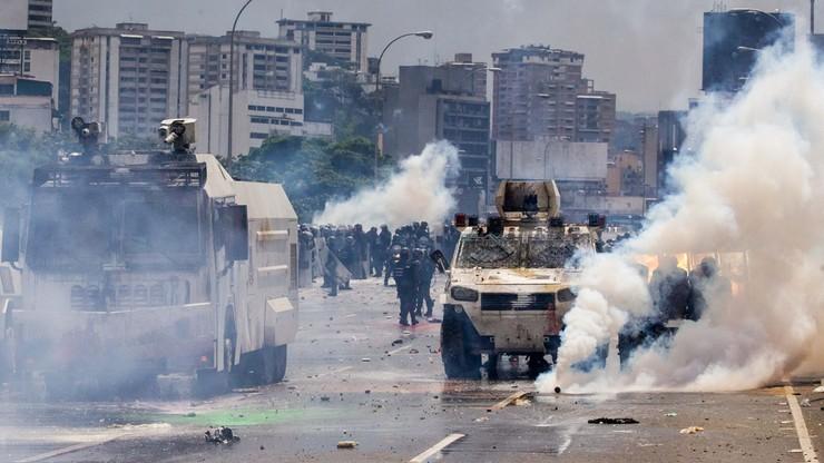 Brutalnie stłumiony protest w Wenezueli. Jedna osoba nie żyje