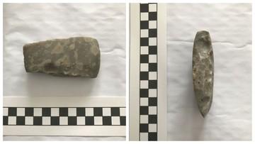 Znalazł siekierę sprzed kilku tysięcy lat. Pochwalił się w sieci, odwiedziła go policja