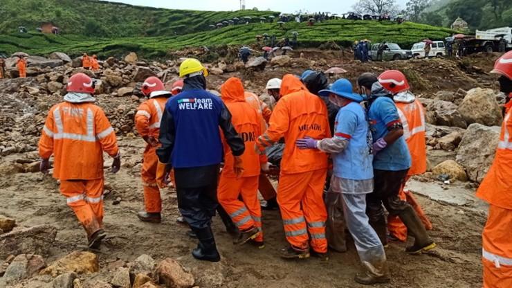 Lawina błotna w Indiach. Zginęło 43 pracowników plantacji herbaty
