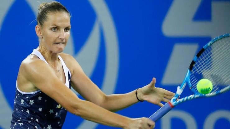 WTA w Tiencinie: Pliskova w półfinale nie dała szans Bacsinszky