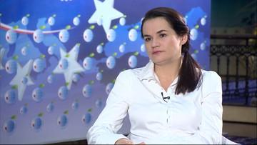 """""""Usiądę do rozmów z Łukaszenką"""" - Cichanouska w Polsat News"""