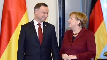 """Półgodzinne spotkanie prezydenta z kanclerz Niemiec. """"M.in. o Europie i konflikcie na Ukrainie"""""""