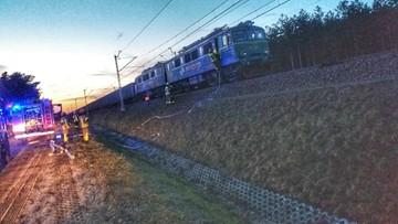 Pożar lokomotywy na trasie Lublin - Warszawa. W środku był maszynista [ZDJĘCIA]