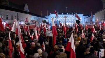Manifestacja zwolenników rządu: nie pozwolimy na warcholstwo