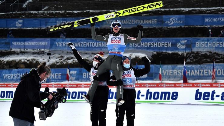 Trzecie zwycięstwo Kamila Stocha w Turnieju Czterech Skoczni. Goni dwóch wielkich skoczków