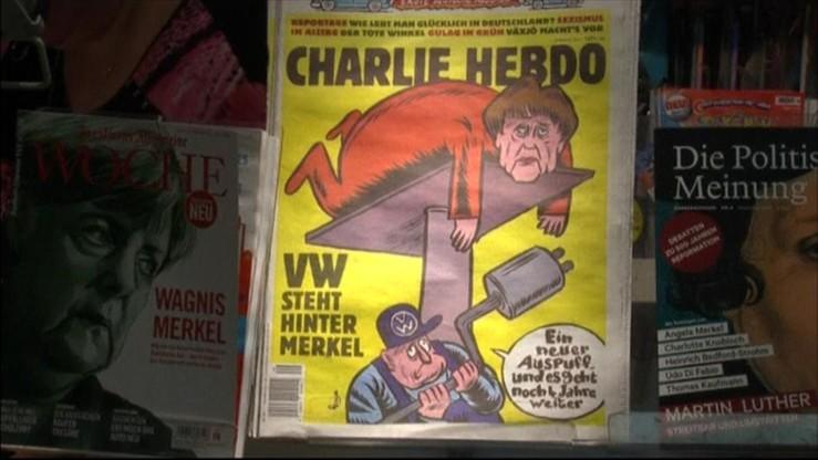 Karykatura Merkel na pierwszej okładce niemieckiego wydania Charlie Hebdo