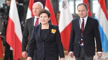 Prawa Polonii, rozliczenia finansowe i partnerskie relacje. Szydło o celach na szczyt ws. Brexitu