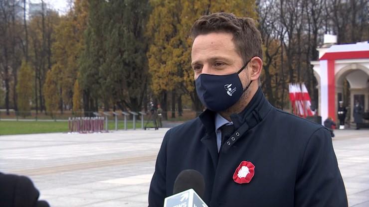"""""""Nie dało się wydać zgody"""". Trzaskowski o Marszu Niepodległości"""