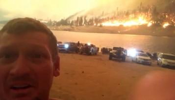Wokół tylko ogień. Ponad 200 osób nie miało gdzie uciec