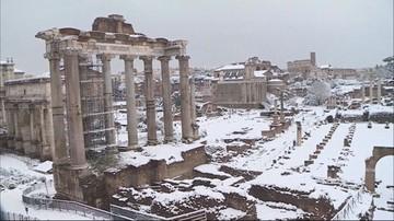 Atak zimy w Rzymie. W Wiecznym Mieście po raz pierwszy od sześciu lat spadł śnieg