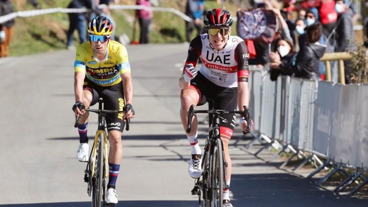 Tadej Pogacar wygrał trzeci etap wyścigu Dookoła Kraju Basków. Primoz Roglic nadal liderem