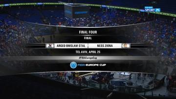 Puchar Europy FIBA: Arged BMSlam Stal Ostrów Wielkopolski - Ironi Ness Ziona 74:82. Skrót meczu