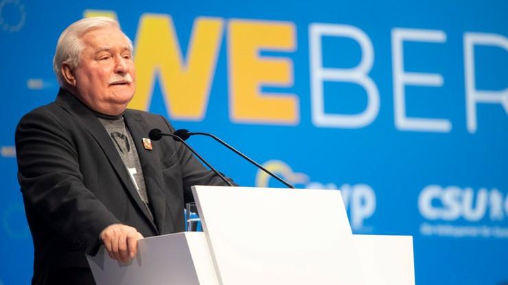 """Wałęsa poparł kandydaturę Webera i wezwał Niemcy do """"prowadzenia Europy"""""""
