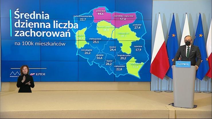 Nowe obostrzenia w kolejnym województwie. Minister przedstawił szczegóły