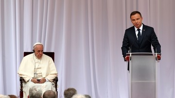 """Prezydent Duda witając papieża: chciałoby się znów wołać """"Niech zstąpi Duch Twój i odnowi oblicze ziemi"""""""