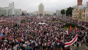 Tysiące ludzi w sercu Białorusi. Wielka manifestacja