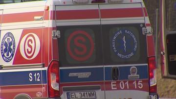 Śmiertelny wypadek na Dolnym Śląsku. Samochód zjechał z jedni i zapalił się