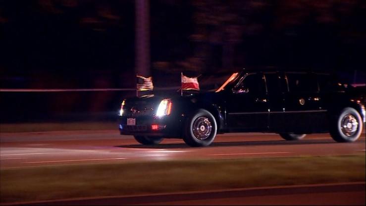 Przyszedł zobaczyć przejazd kolumny Trumpa i stracił przytomność. Reanimowali go policjanci