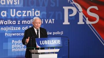 """""""Albo stara władza, albo dobra zmiana"""". Prezes PiS w Lublinie"""