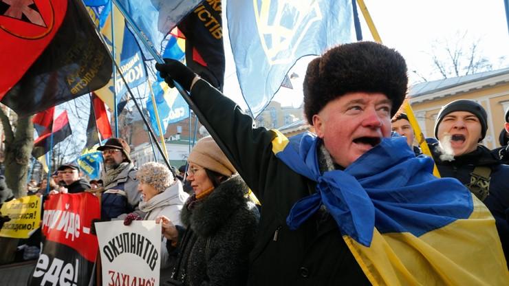 Ukraińscy nacjonaliści pikietowali polskie placówki dyplomatyczne