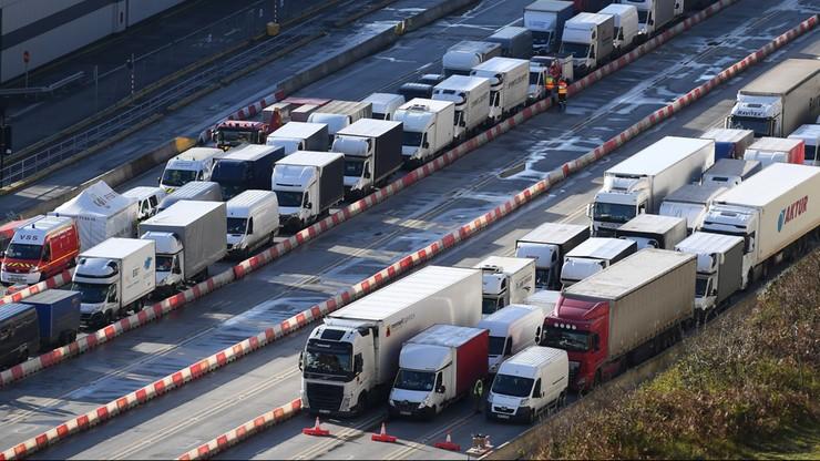 """Kierowcy utknęli w Dover. """"24 zakażenia na ponad 10 tys. testów"""""""