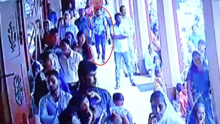 Kamery zarejestrowały podejrzanego o sprawstwo zamachu na Sri Lance. Wszedł do kościoła z plecakiem