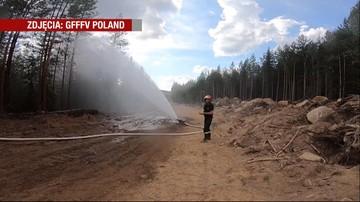 Polscy strażacy gaszą pożary w środkowej Szwecji. Pierwszy deszcz spodziewany jest tam w sobotę