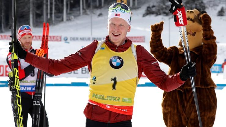 PŚ w biathlonie: Trzecia z rzędu wygrana Johannesa Boe, Fourcade drugi