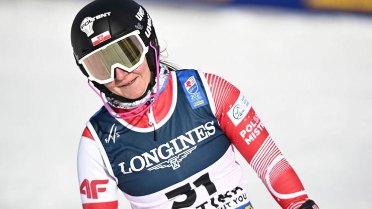 Alpejskie MŚ: Polka siódma po pierwszym przejeździe giganta