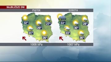 Prognoza pogody - czwartek, 17 czerwca - rano