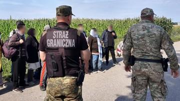 Duża grupa nielegalnych imigrantów przedzierała się do Polski