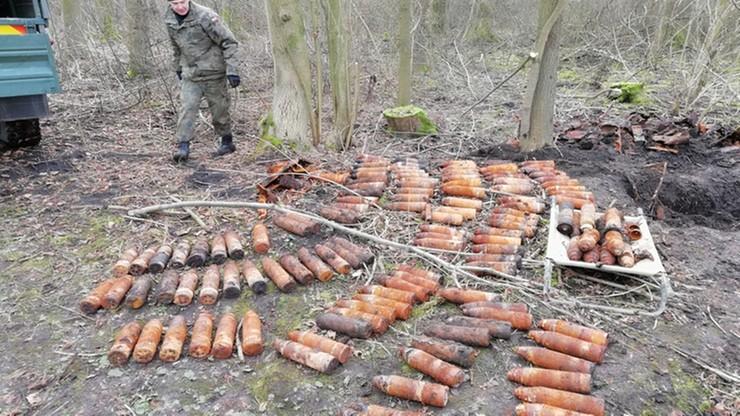 Niezwykłe i wyjątkowo niebezpieczne znalezisko. 160 pocisków sprzed I wojny światowej