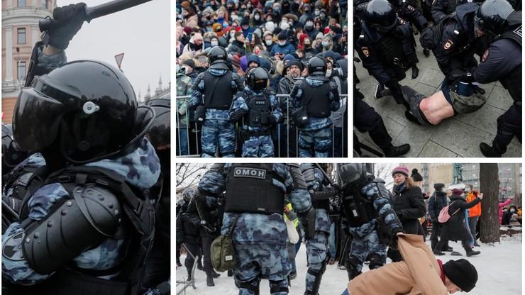 Protesty w Rosji w obronie Nawalnego. Ponad 2500 zatrzymanych, starcia z policją