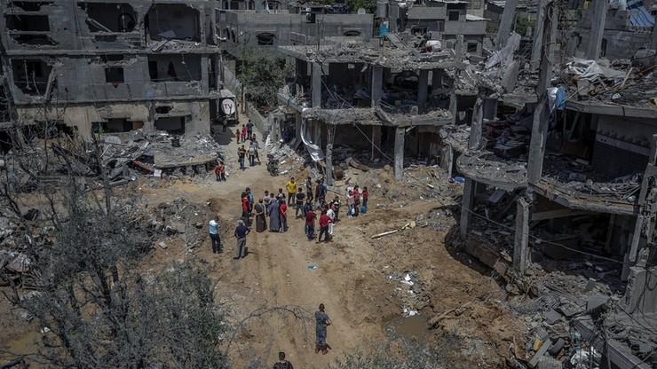 Strefa Gazy po walkach z Izraelem. Wiceminister: co najmniej 2 tys. mieszkań zniszczonych