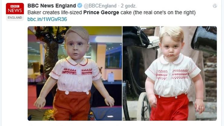 Książę George ma swojego sobowtóra. W postaci ciasta