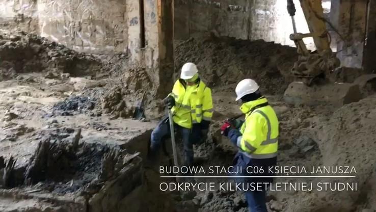 300-letnia studnia odnaleziona na budowie stacji nowej linii warszawskiego metra
