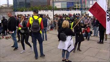Protest przedsiębiorców w Warszawie. Tanajno zatrzymany