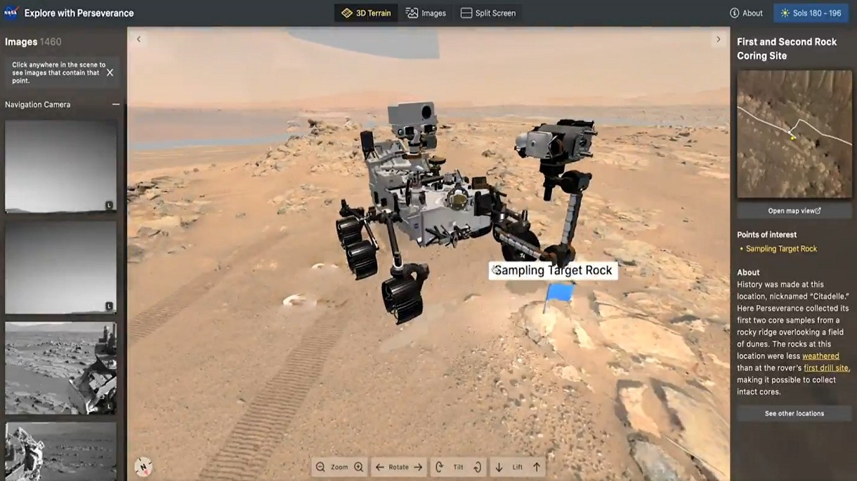 Świetne narzędzia NASA pozwalają w 3D i niemal na żywo oglądać łazik na Marsie